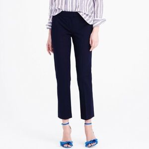 J. Crew Campbell slim trouser cropped pant navy